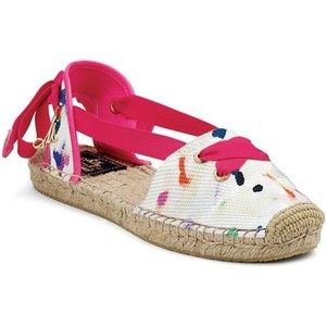 Milly Sperry Topsider pink & White espadrilles